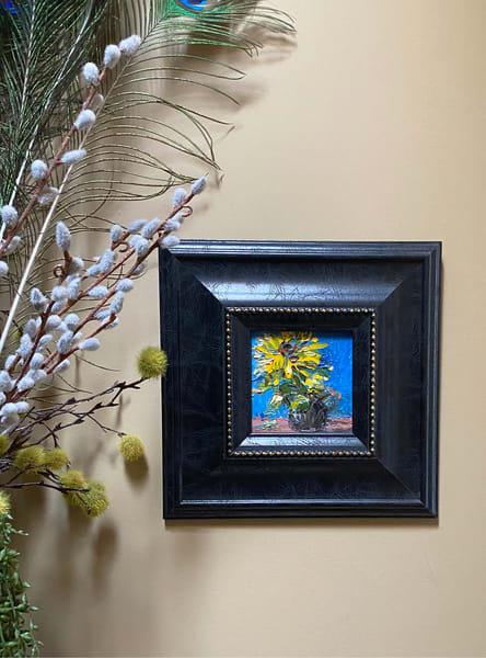 """Sunnies In Black Frame"" Oil Painting Art   Maniscalco Art"
