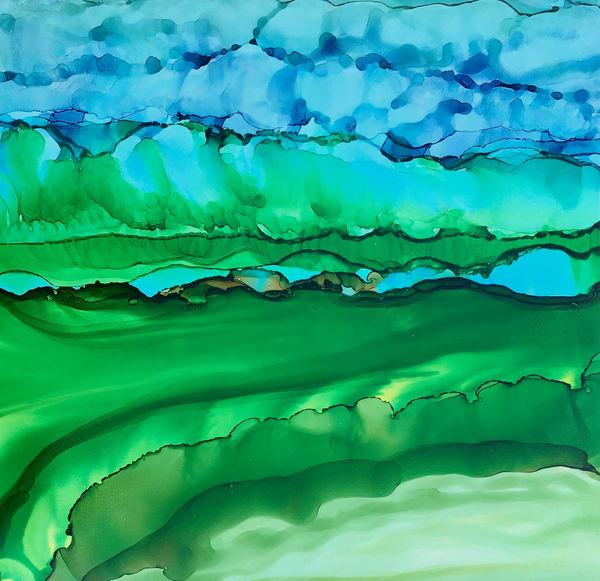 Curling Horizon Art | Sandy Smith Gerding Artwork