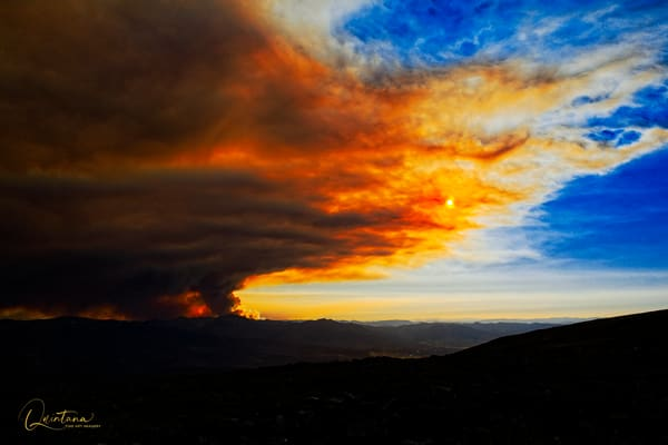 Fire in the Sky - A Fine Art Photograph by Marcos R. Quintana