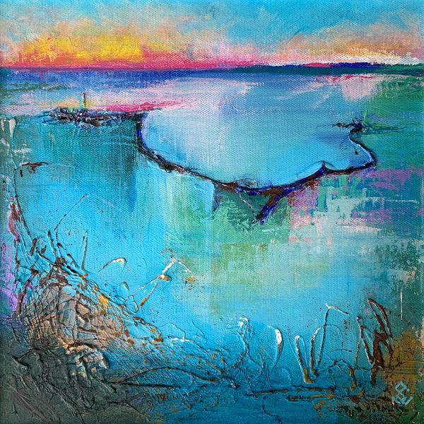 Pink Sunrise Art | susanclare