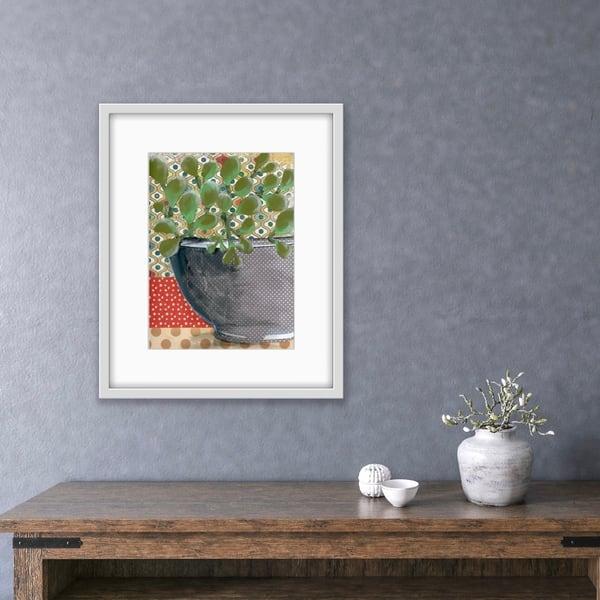 Jade Succulent Original  Art | Jenny McGee Art
