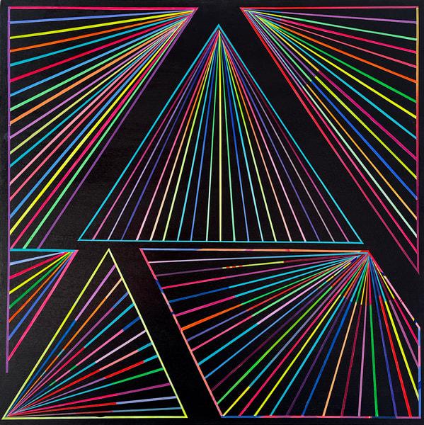 Caroline Geys | Spectrum Vortex Painting | Rainbow Op-art