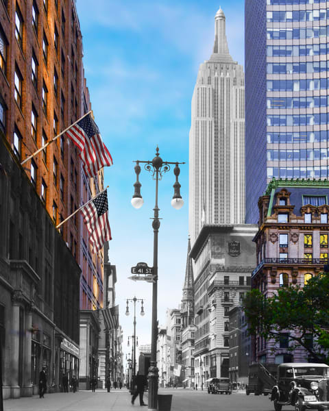 Empire State Building From 41st Street And 5th Avenue Art | Mark Hersch Photography