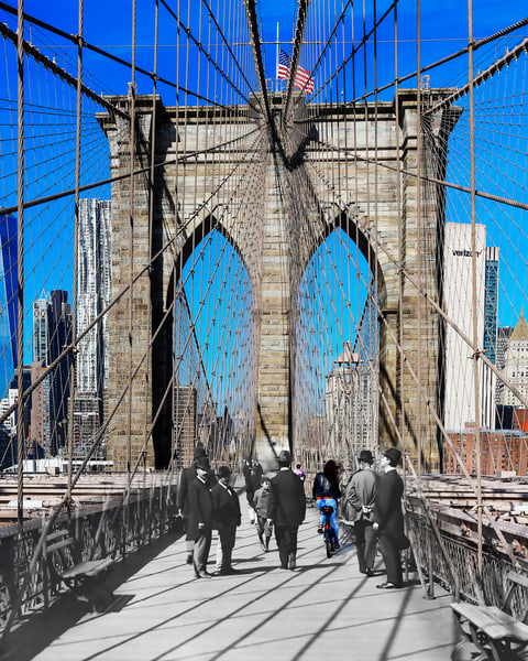 Manhattan Tower Of The Brooklyn Bridge Art | Mark Hersch Photography