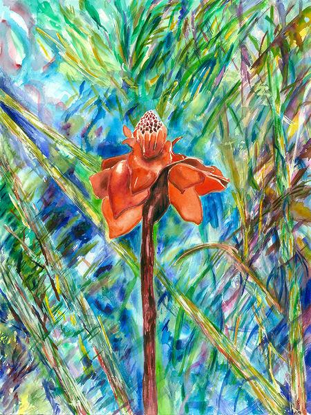 Forest Flame, Original Art | mariselabracho