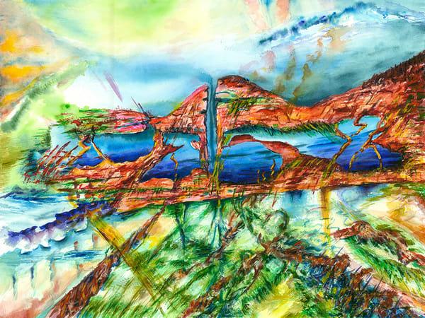 Fire Mountain, Original Art | mariselabracho