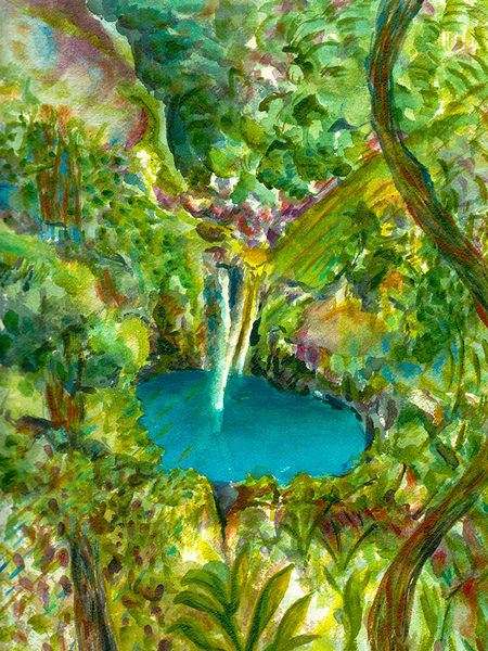 Waterfall, Original Art | mariselabracho