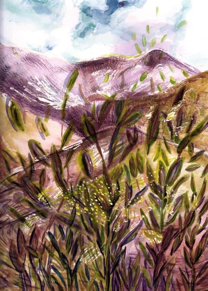 Purple Mountain Grass, Original Art | mariselabracho