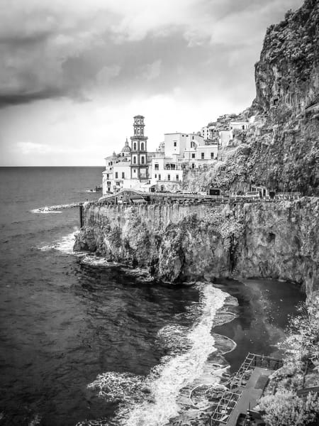Atrani Italy Photography Art | The World in Black and White
