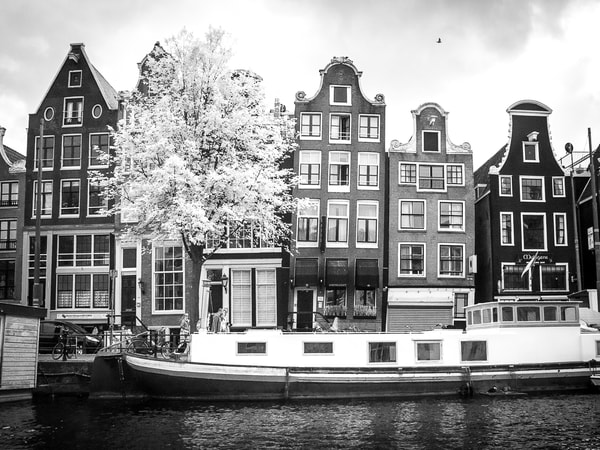 Dancing Houses Amsterdam Photography Art | The World in Black and White