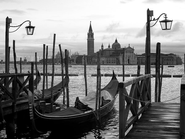 Isola Di San Giorgio Maggiore Photography Art | The World in Black and White