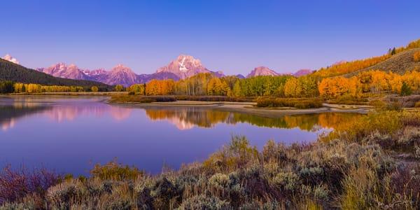 Sunrise in Fall at Grand Teton National Park
