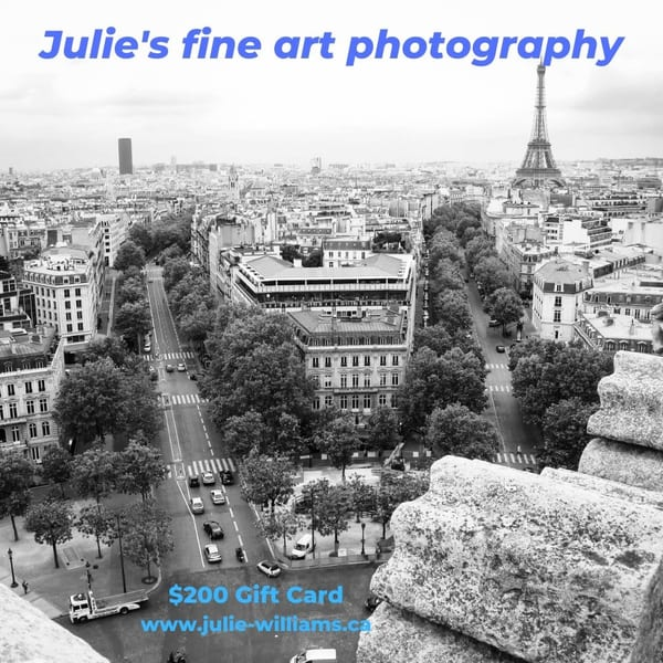 $200 Gift Card | Julie Williams Fine Art Photography