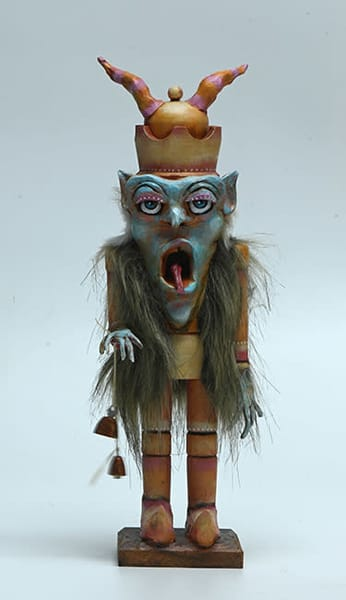 Krampus was once a nutcracker, adorned with horns, claw-like hands and big shoes. By Karen Rexrode