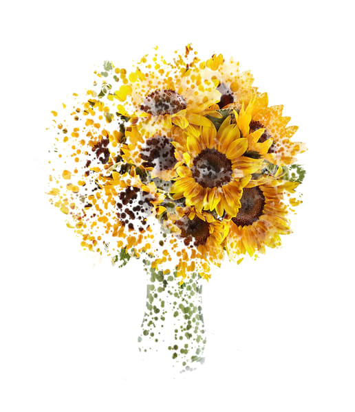 Sunflowers Coming Together Art   Art from the Soul