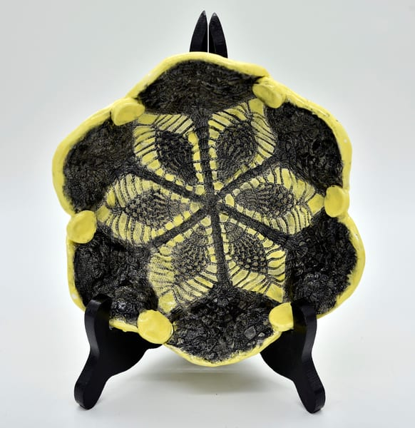 B Hirsh   Black And Yellow Bowl | Branson West Art Gallery - Mary Phillip