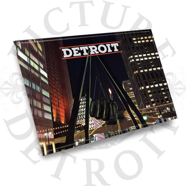 Joe Louis Fist Detroit City Scape | Picture Detroit