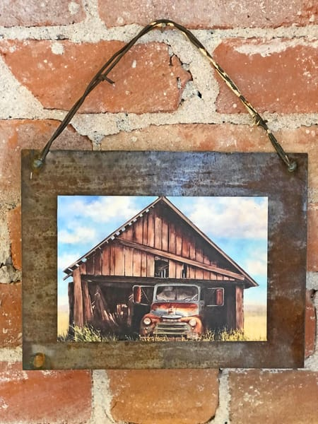 All Tucked In Rusted Metal Print