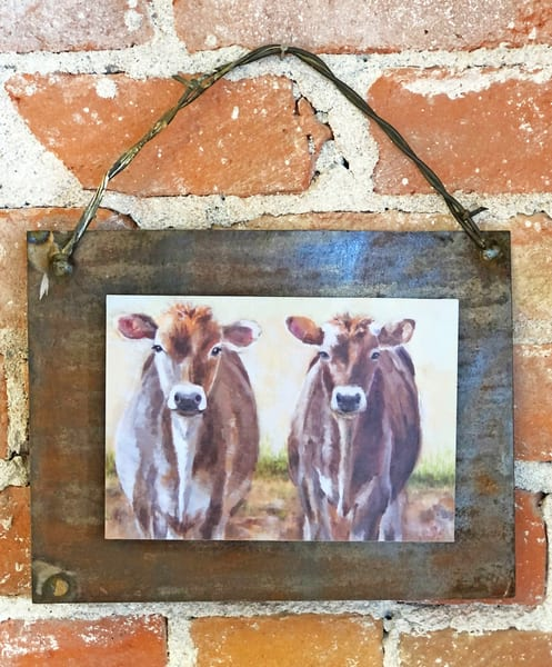 The Jersey Girls Rusted Metal Print