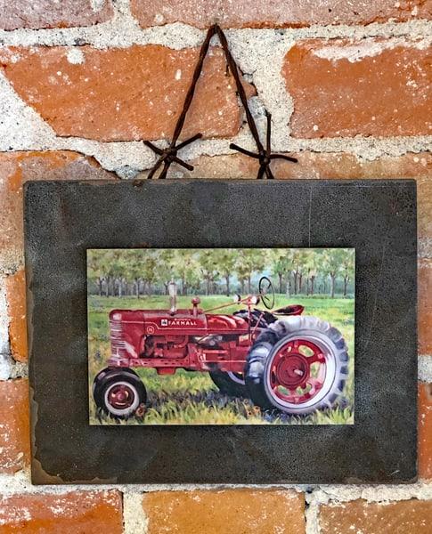 Classic Farmall Rusted Metal Print