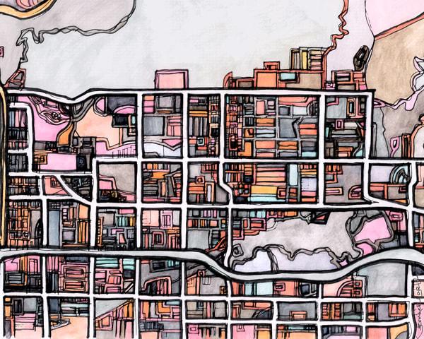 Glendora, Ca Art | Carland Cartography