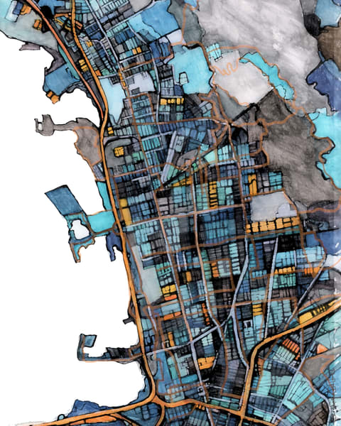 Maps As Art - Abstract City Art. Shop A Selection of Map Prints by Carland Cartography