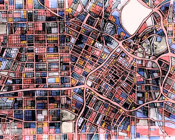 Los Angeles, Ca Art | Carland Cartography