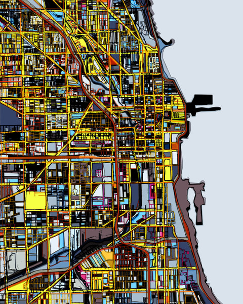 Chicago, Il Art | Carland Cartography