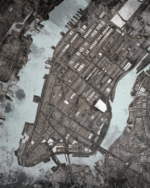 Manhattan, Nyc Art | Carland Cartography