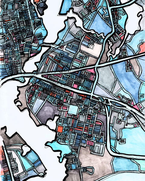 East Providence, Ri Art | Carland Cartography