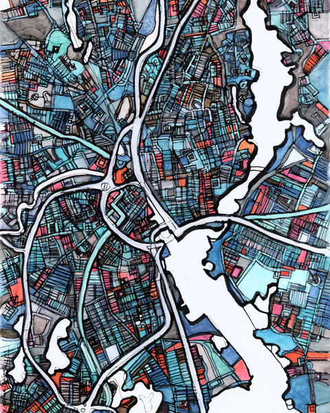 Providence, Ri Art | Carland Cartography