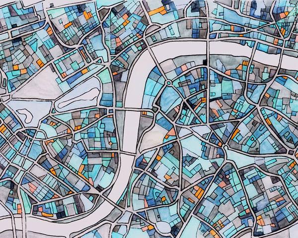 London, England Art | Carland Cartography