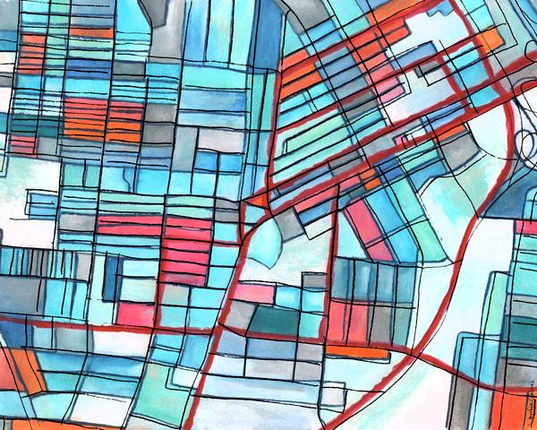 East Nashville, Tn Art | Carland Cartography