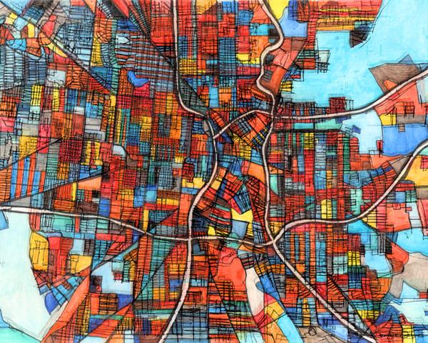 San Antonio, Tx Art | Carland Cartography
