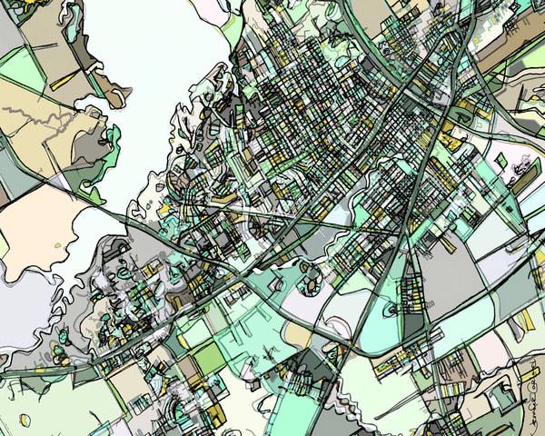 Waco, Tx Art | Carland Cartography