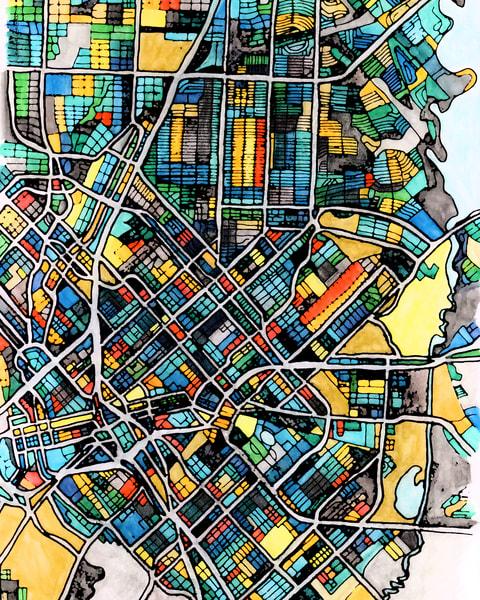 Dallas, Tx Art | Carland Cartography