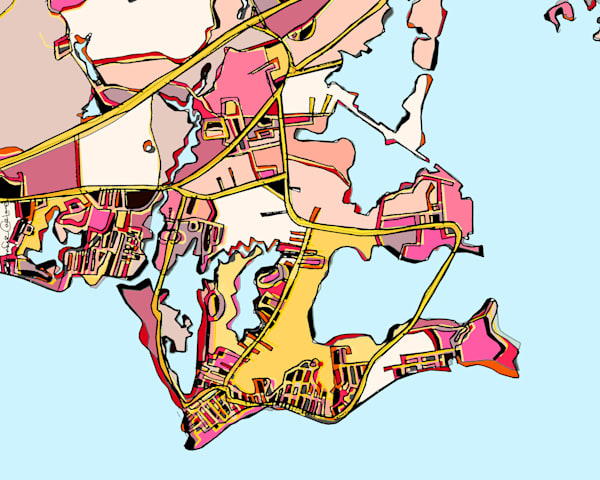 Old Saybrook, Ct Art | Carland Cartography