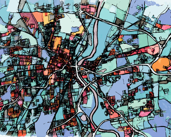 Hartford, Ct Art | Carland Cartography