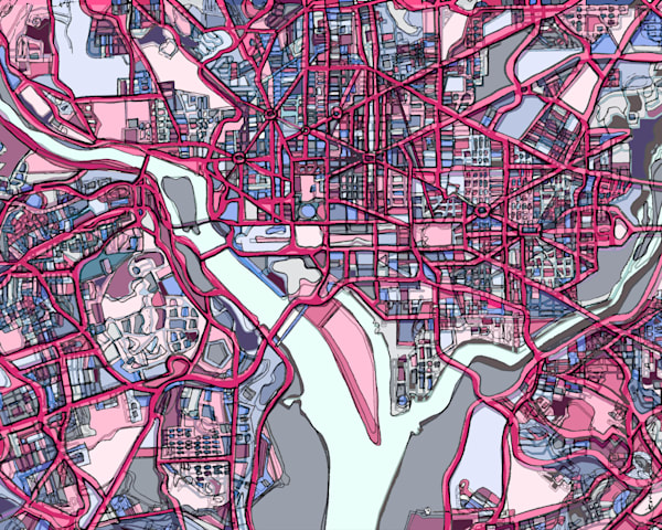 Washington, Dc  Art | Carland Cartography