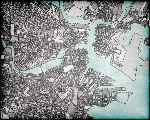 Boston, Ma Art | Carland Cartography
