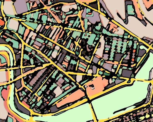 Cambridge , Ma (Green) Art | Carland Cartography