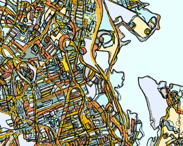 Dorchester, Ma Art | Carland Cartography
