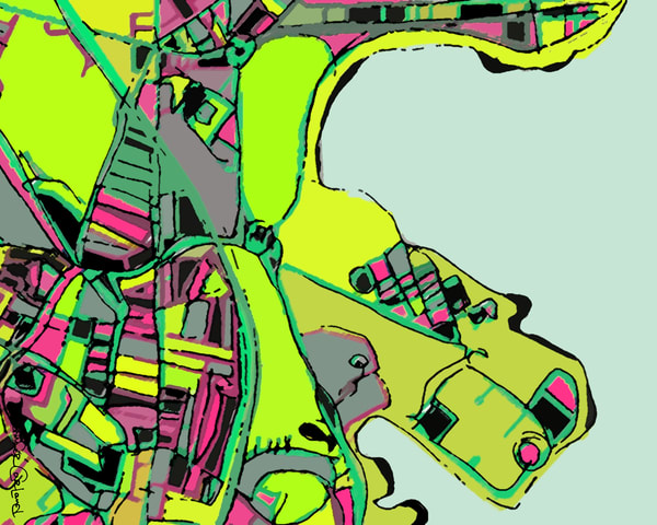 Columbia Point, Dorchester Ma Art | Carland Cartography