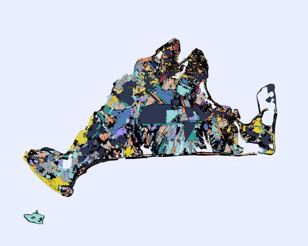 Martha S Vineyard , Ma Art | Carland Cartography