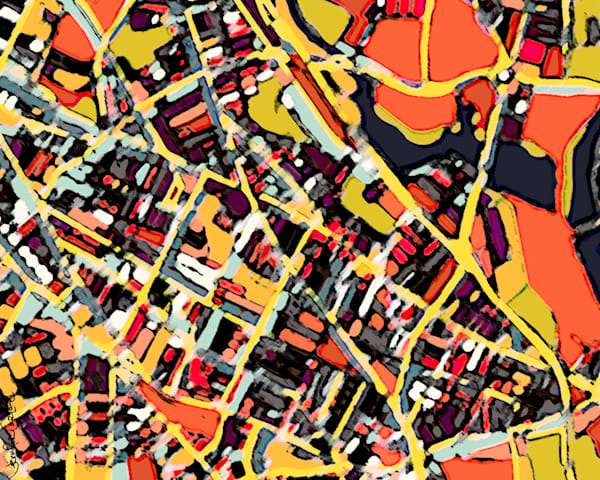 Somerville, Ma (Orange) Art | Carland Cartography