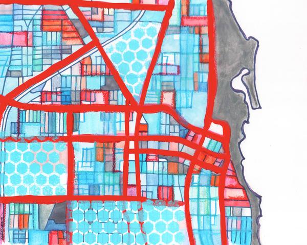 Evanston, Il (Gray) Art   Carland Cartography
