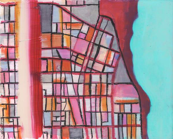 Evanston, Il (Pink) Art | Carland Cartography