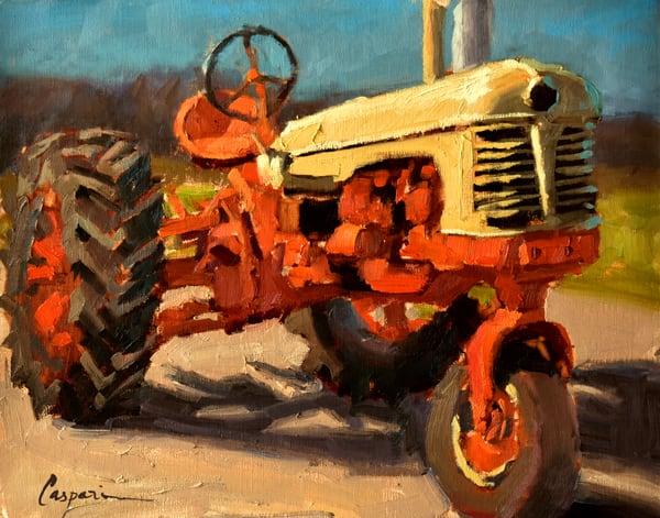 Morris Farm Tractor  Art   robincaspari