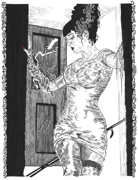 Original Illustration of the Bride of Frankenstein