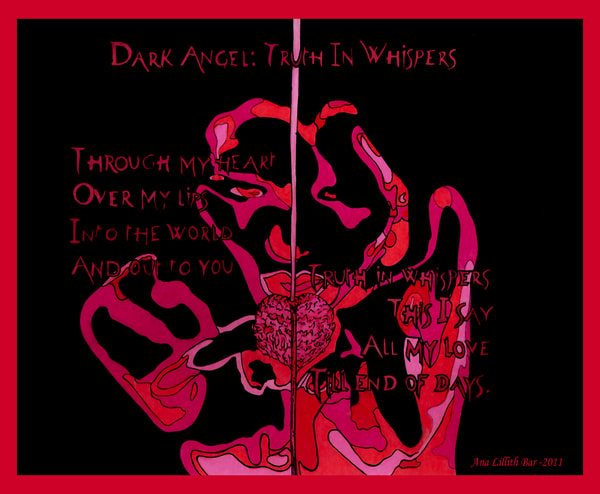 Dark Angel: Truth In Whispers Art | Lillith